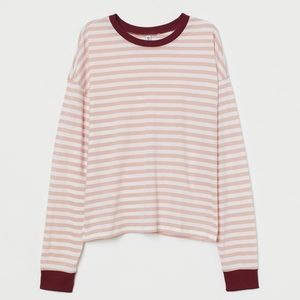 Light Pink/White Striped Long Sleeves Too.